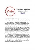 Oboe Oiling Procedure 1:15